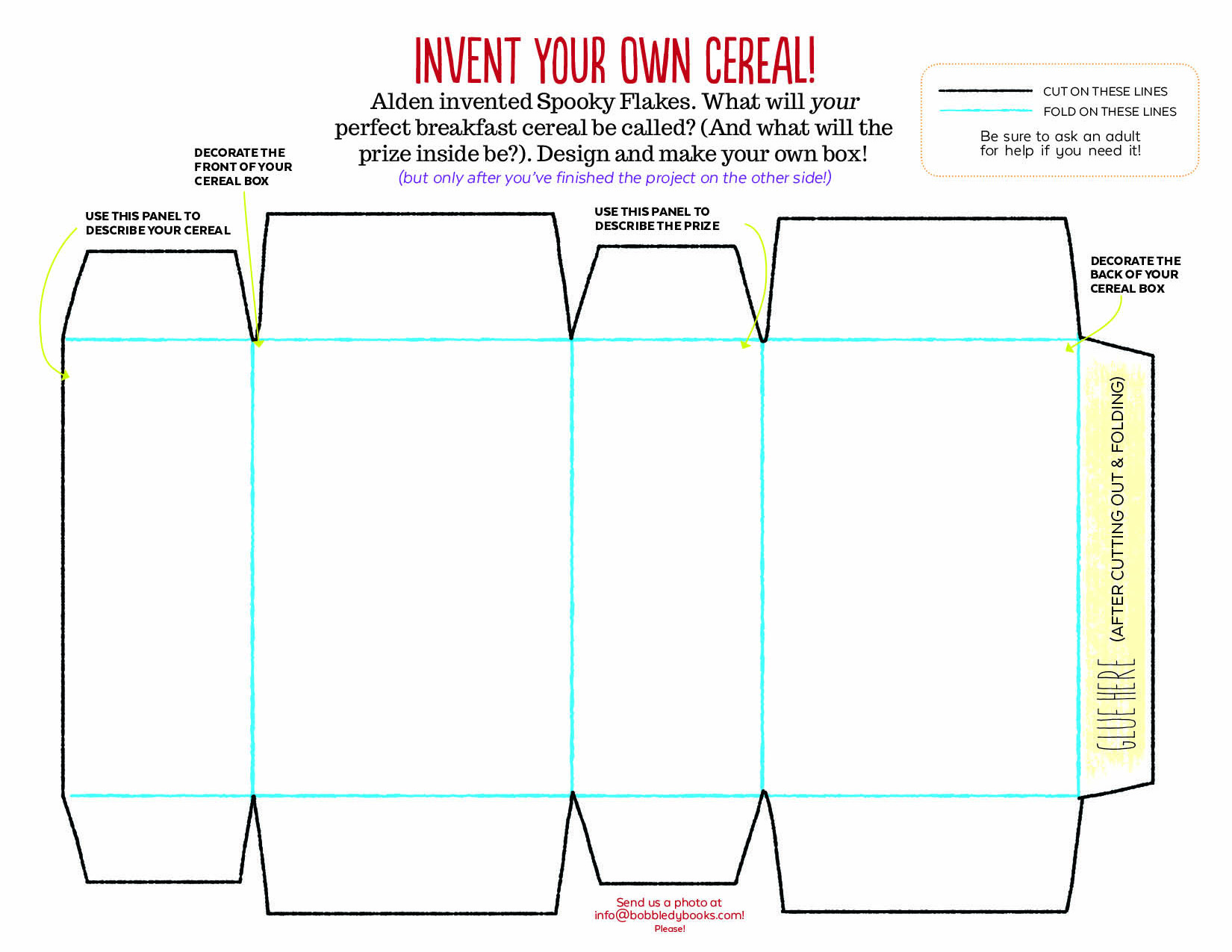 Design your own cereal box template for Design your own cereal box template